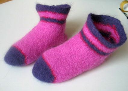 Fuzzy Feet Felted