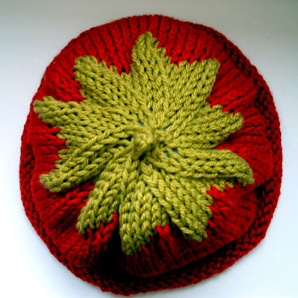 Preview This Free Knitting Pattern: Tomato Baby Beanie